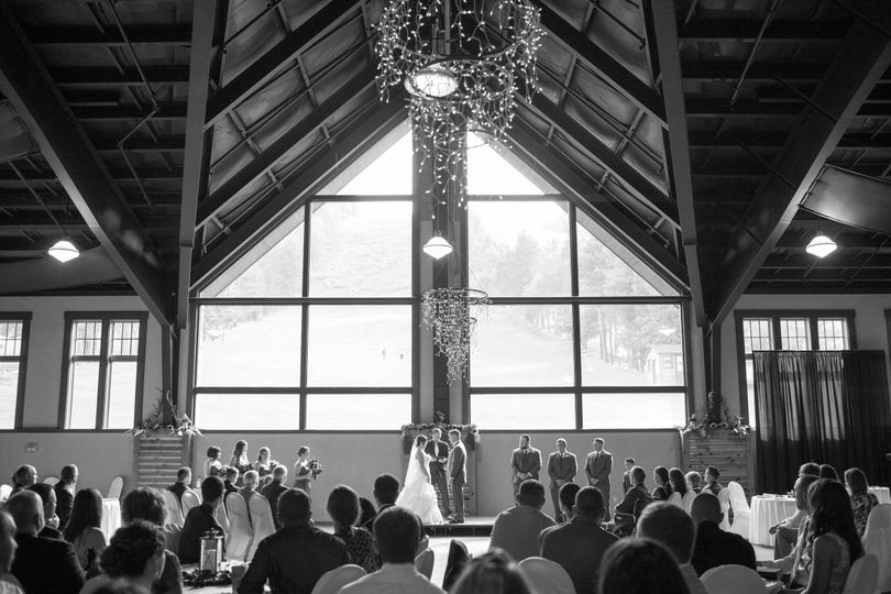 Indoor Ceremony- McHenry Lodge Photo Credit: Jessica Fike Photography