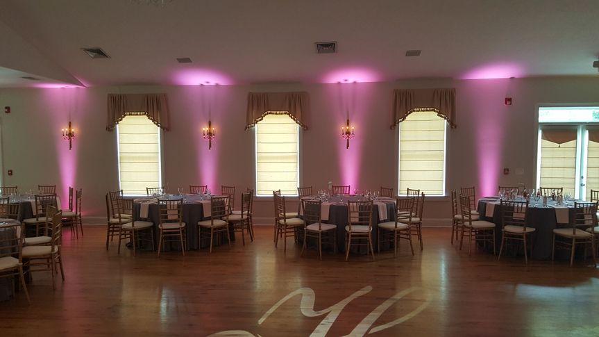 Pink reception uplighting