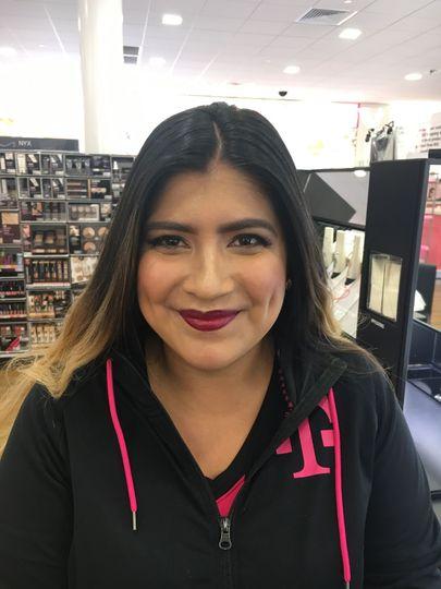 Full glam makeup