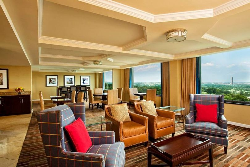 Lounge area at the suite