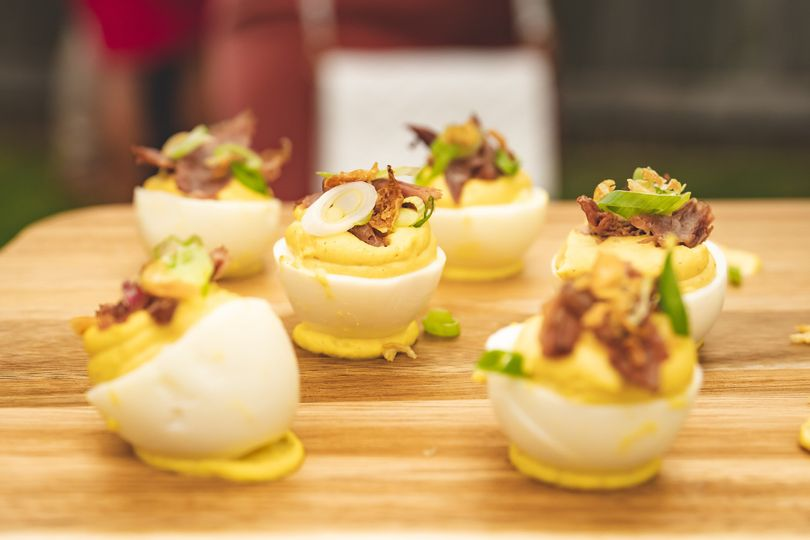 Duck Confit Deviled Eggs