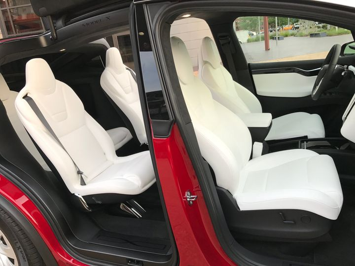 Side angle of white interior