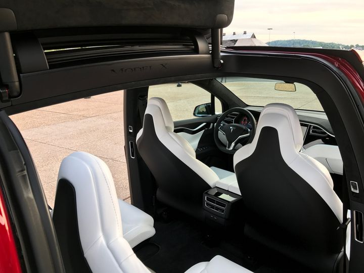 Rear angle of interior