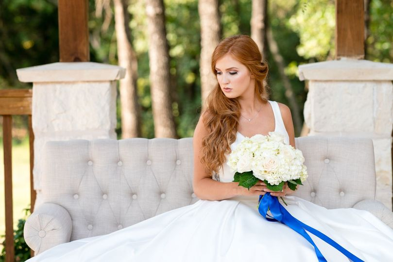 Bride on chaise lounge