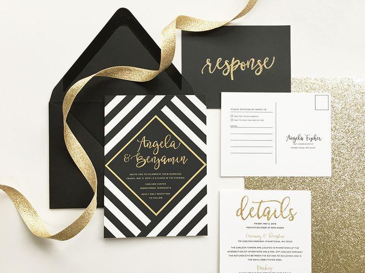 Tmx 1461882109731 Img8477sml Minneapolis wedding invitation