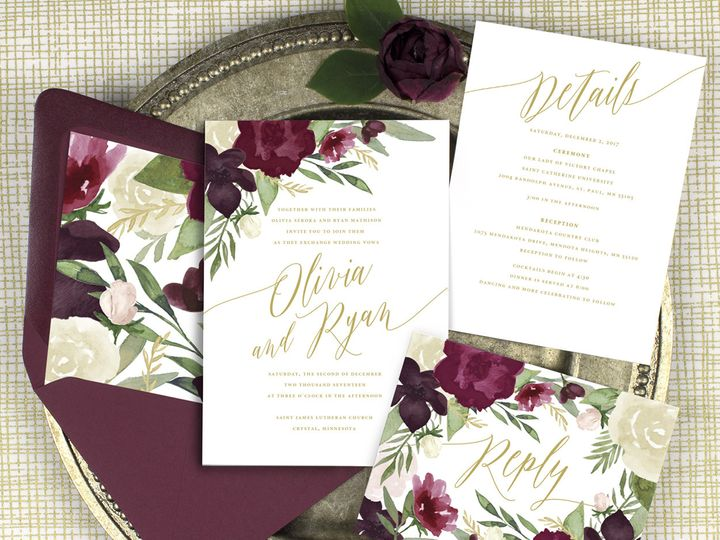 Tmx 1510672275932 Img7278sml Minneapolis, MN wedding invitation