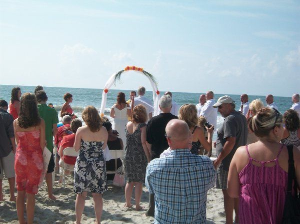 A great day for a Wedding on the beach.