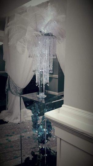 white draping set up