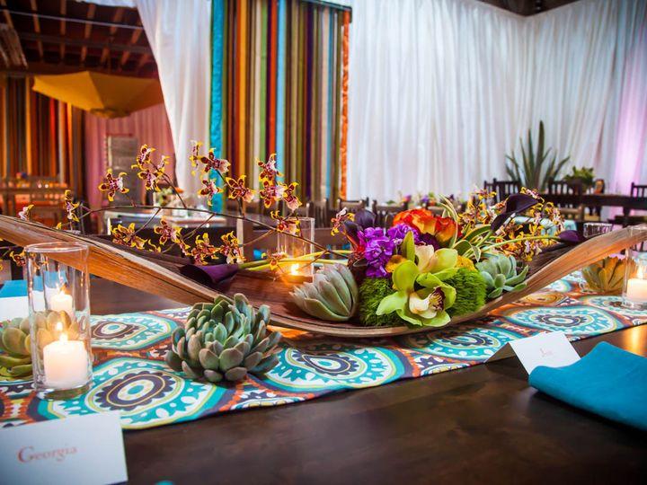 Tmx 1422573653022 Kingstabledecocenterpiecehusksucculentsfiestagreen San Jose wedding florist