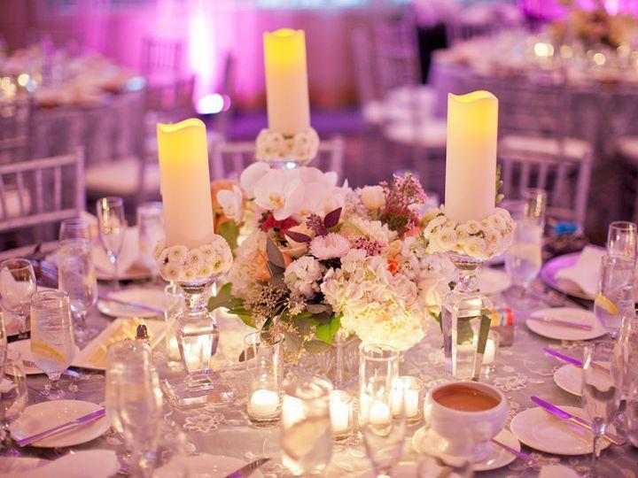 Tmx 1422573910392 Tablescapecandlestickslowcenterpiececreamshydrange San Jose wedding florist