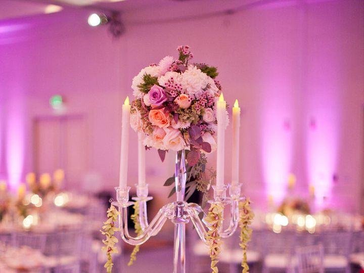 Tmx 1422573933375 Tablescapecenterpiececandelabrauplightshangingorch San Jose wedding florist