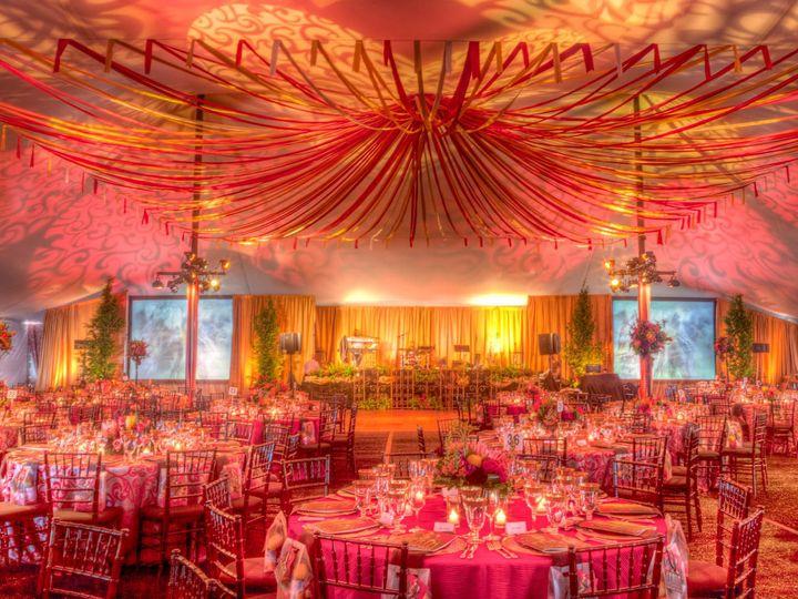 Tmx 1422574165721 Ribbonceilingfabricwalldrapegobolightsuplights San Jose wedding florist