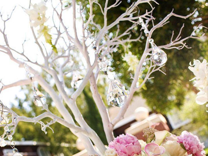 Tmx 1422574658253 Centerpiecetallsilvermanzanitabranchestrumpetvaseh San Jose wedding florist