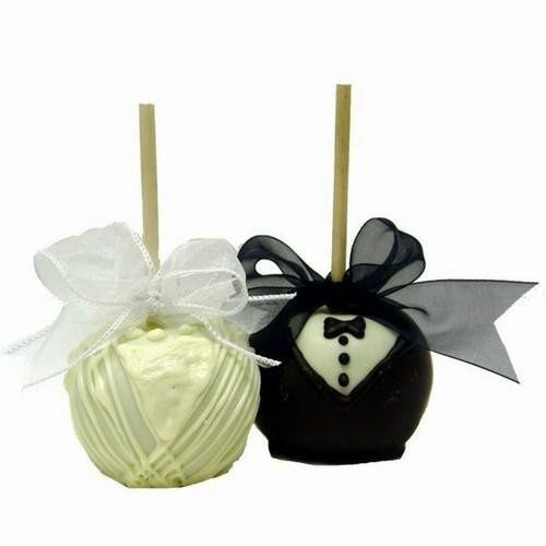 Chocolate Bride and Groom Apple Couple