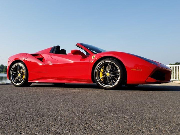 Ferrari 488 Spider side profile