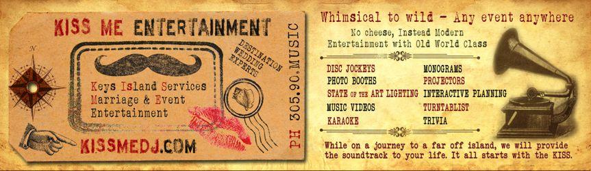 kiss me entertainment,kiss me dj,key largo,key west,dj,wedding,bayside...