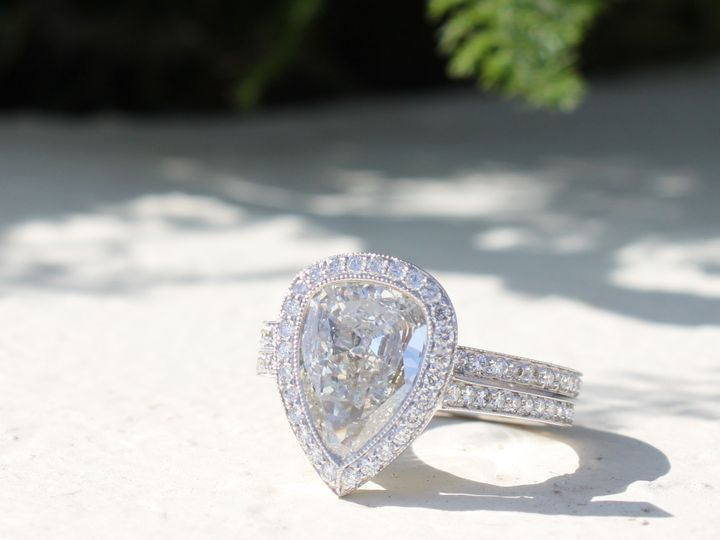 Tmx 1398277032581 Pear Shape 2.66ct With 1.31cts On Two Rings Velos Miami wedding jewelry