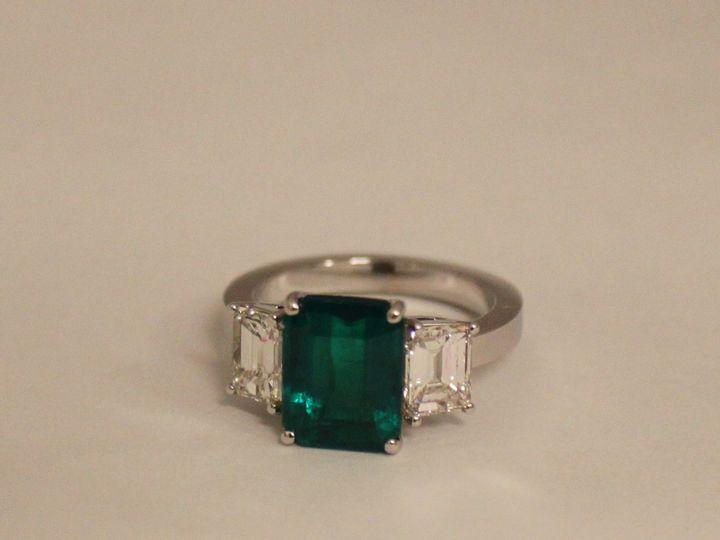 Tmx 1398279625346 Emerald 2.52 Ct With Dia 1.26 Ct Tw 18kw Size 4.5  Miami wedding jewelry