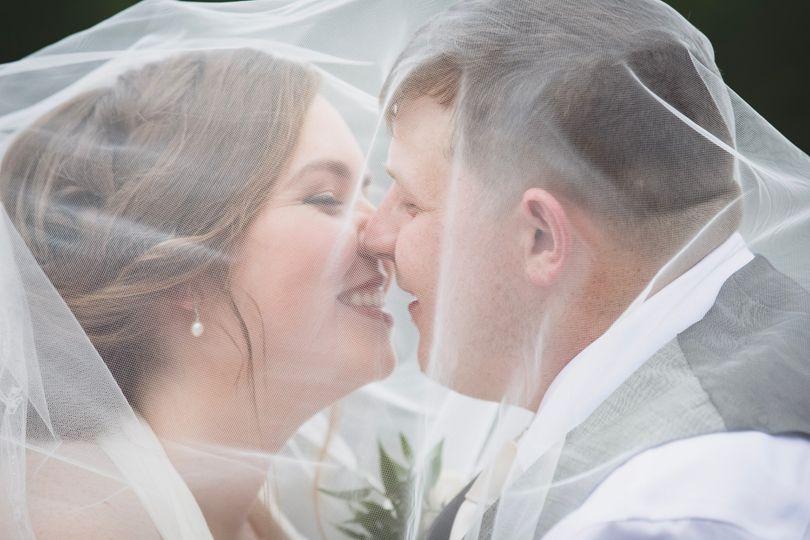 Under-the-veil kisses