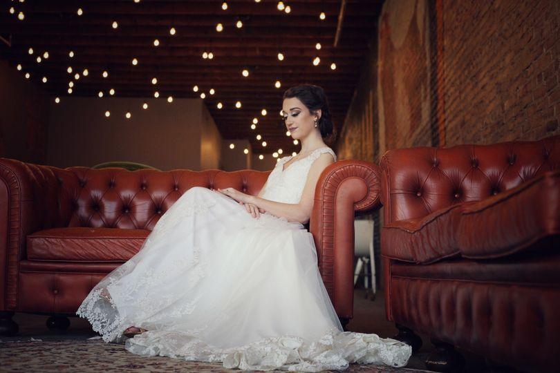 Bride in Durham Hall