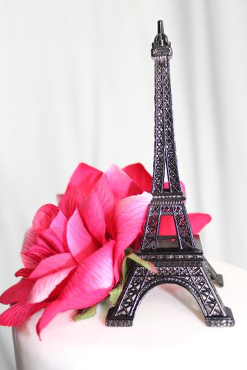 """Black Paris Eiffel Tower Cake Topper available in 6"""", 7"""", 10"""" & 13"""""""