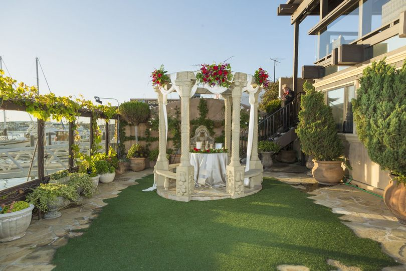 Garden Gazebo for Ceremonies on Newport Harbor