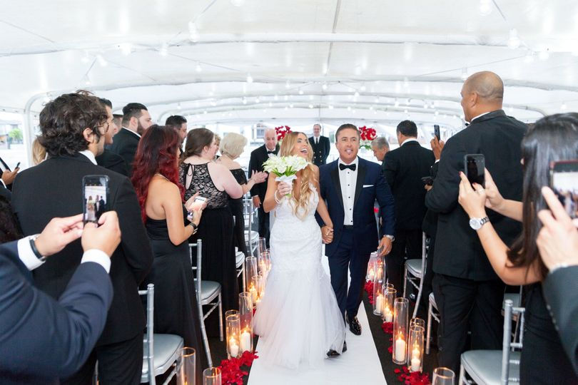 Wedding Ceremony on the yacht ICON