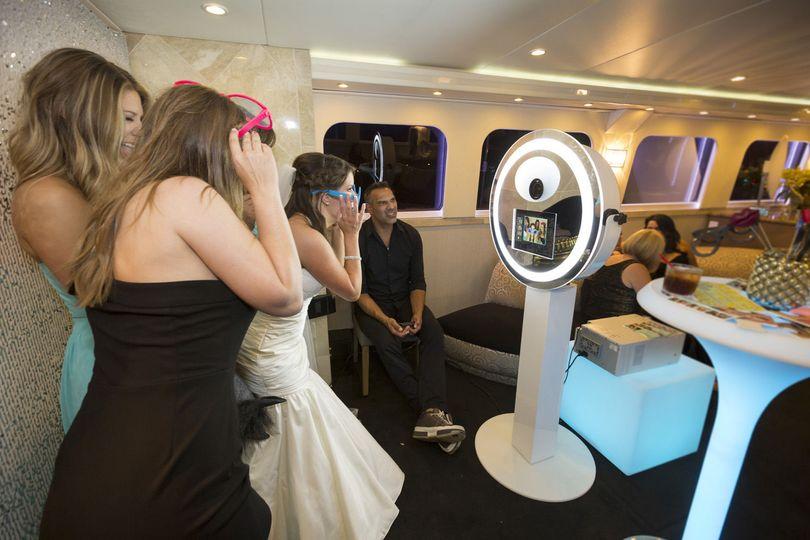 Fun in the Main Salon of yacht ICON