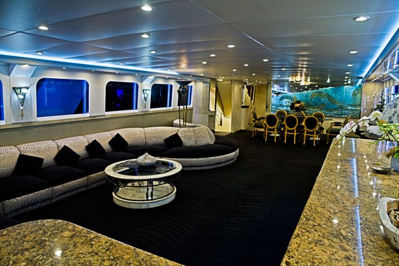 Yacht ICON's main salon