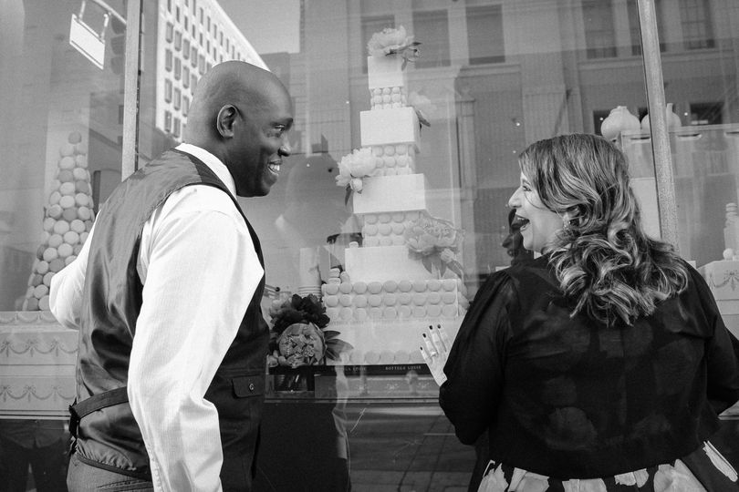 Engaged Downtown Los Angeles