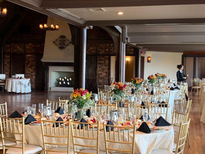 Elegant reception setup