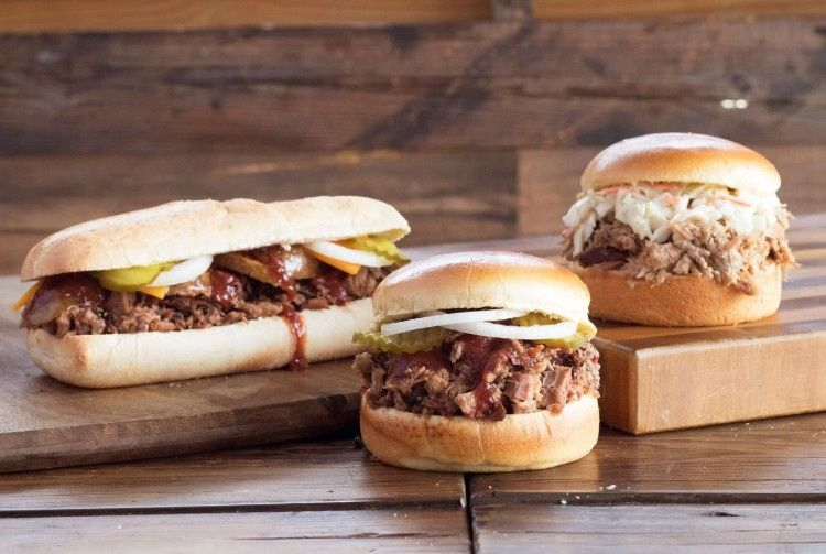 Barbecue sandwich selections