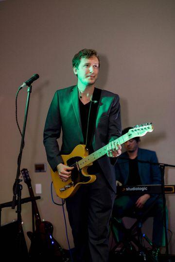 Ethan on guitar