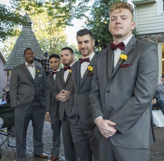 Candid of the groomsmen