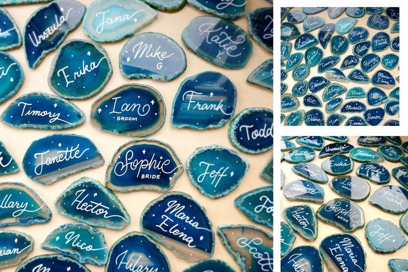 Custom agate stones