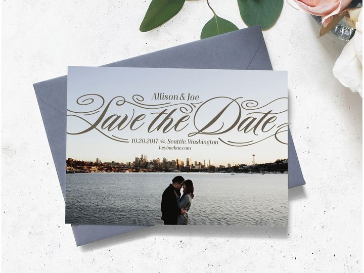 Tmx Allisonandjoe Savethedate 51 1885535 1569546308 Bellevue, WA wedding invitation