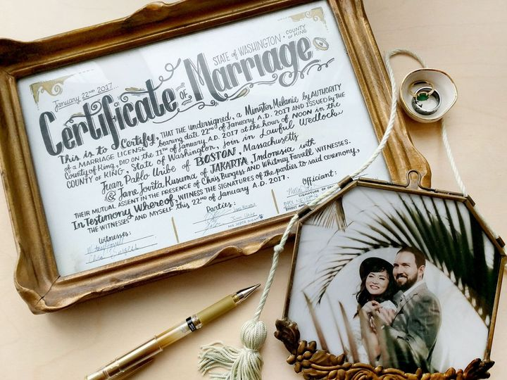 Tmx Certificateofmarriage 51 1885535 1569546315 Bellevue, WA wedding invitation