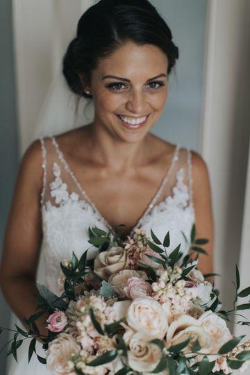 Bride before ceremony.