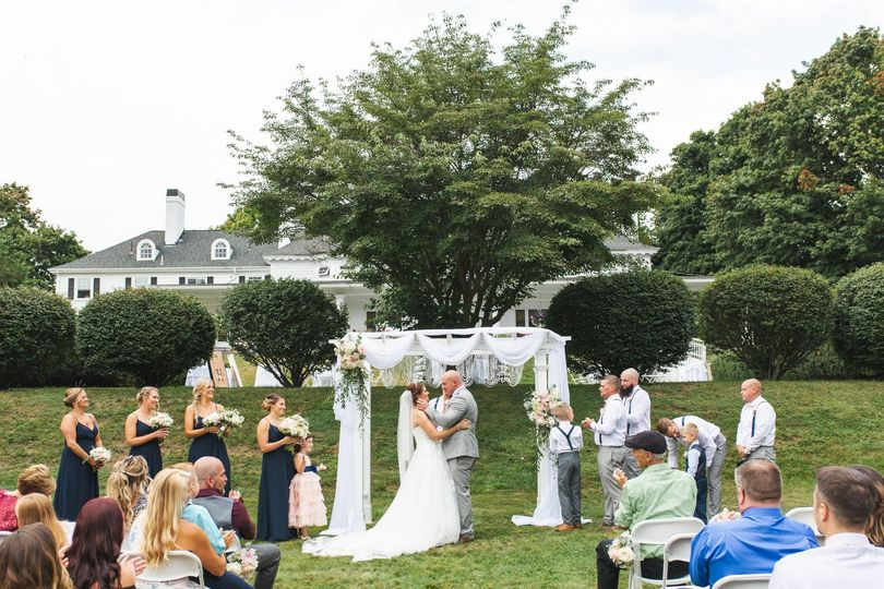 Ceremony on lawn