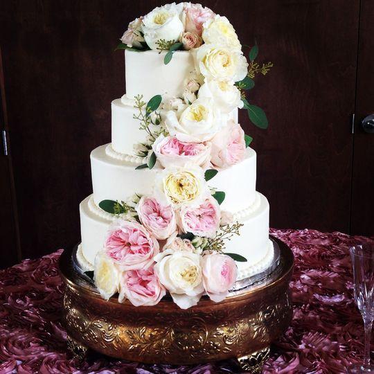 In-house wedding cake