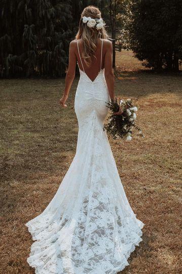 Mermaid-style gown