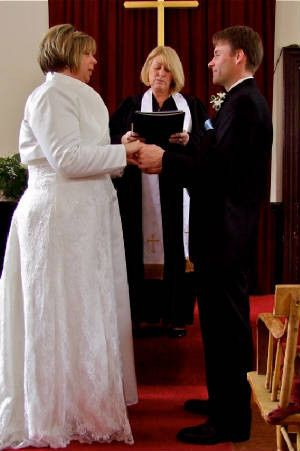 Officiant heading the cermeony