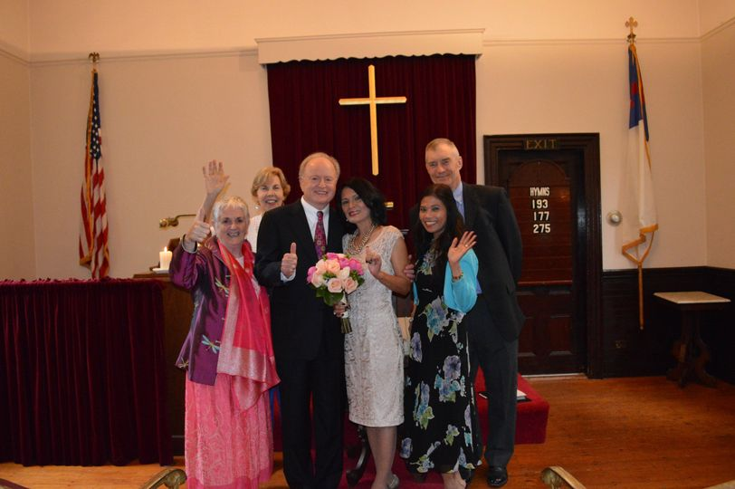 Group photo at the altar