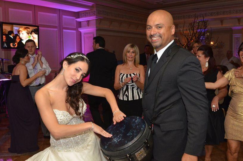 Bride drumming