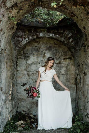 A bride at her Roche Harbor Wedding.