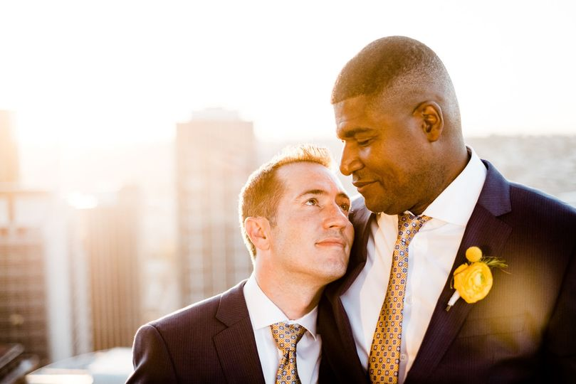 Grooms at their Downtown Seattle Wedding.