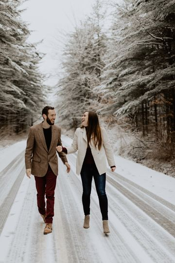 Walking the snowy path together