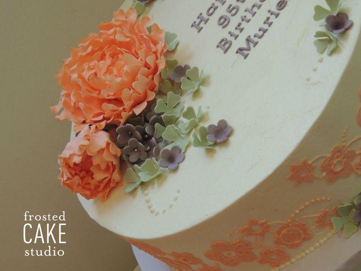 Tmx 1440511225164 Muriels Cake Flower Detail Ambler wedding cake