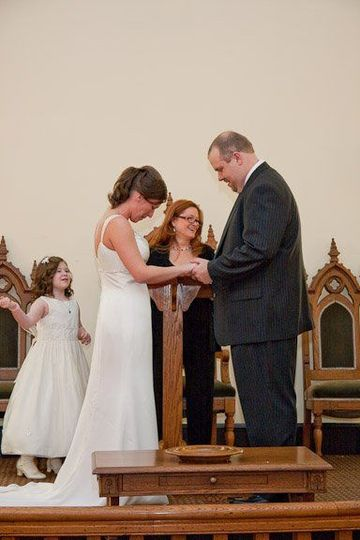 Blessing the marriage