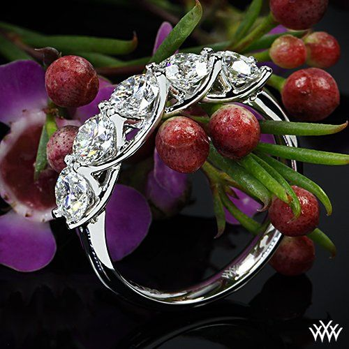 Tmx 1359576734497 5StoneTrellisDiamondRightHandRinginPlatinumbyWhiteflash34217g2 Sugar Land wedding jewelry